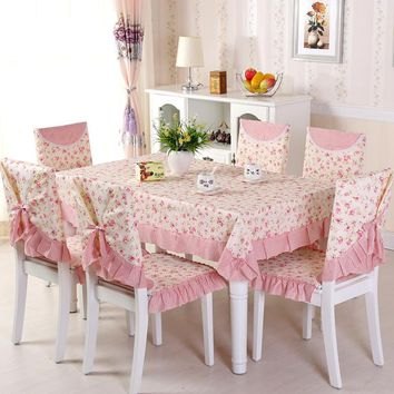 9 Pieces/Set Cheap Pink Tablecloth for Wedding Party Home Table, Linen Table Cloth Cover Textile Decoration Toalha De Mesa