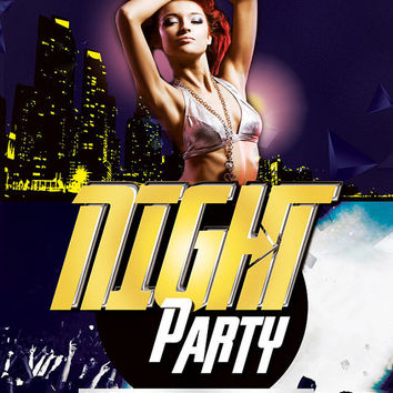 Night Party Flyer Template | Night Party Flyer | Flyer Template |Night Party Invitation | Instant Download