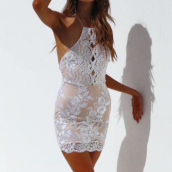 Eye Catching Dress (Silver)