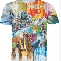 3D print graffiti star wars t shirt