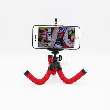 Mini Tripod Digital Camera Mobile Phone Stand Flexible Grip Octopus Monopod Flexible for Octopus Digital Camera clip rubberized
