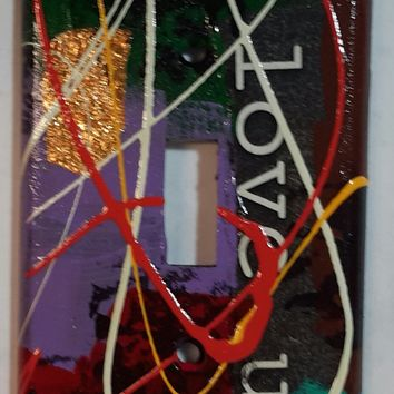 Hand Painted #7 Light Switch Cover