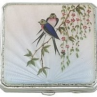 Sterling Silver and Enamel Compact by Joseph Gloster - Vintage George VI (1947)