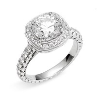 Women's Jack Kelege 'Romance' Cushion Set Diamond Engagement Ring Setting