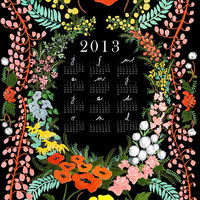 Language of Flowers 2013 giclee print wall calendar
