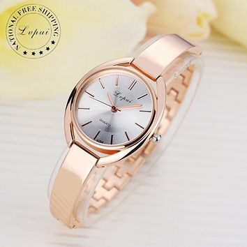 Rose Gold Quartz Sport Bracelet Wristwatch