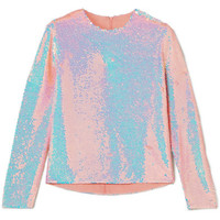 Ashish - Sequined silk-georgette top