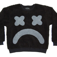 SAD FACE FLEECE SWEATER