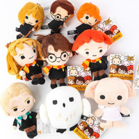 Harry Potter Anime Toys Soft Stuffed Doll Pendant Key Ring Chain Bag Accessory Gifts For Kids Baby Toy Children Birthday Gifts