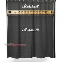 Marshall shower curtain customized design for home decor
