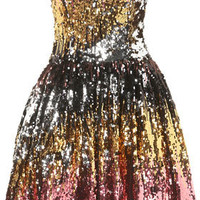 **Sequin Strapless Dress by Rare - Brands At Topshop