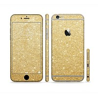 The Gold Glitter Ultra Metallic Sectioned Skin Series for the Apple iPhone 6