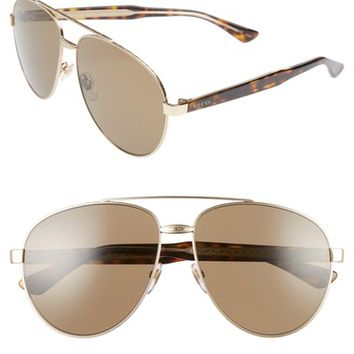 Gucci 61mm Aviator Sunglasses | Nordstrom