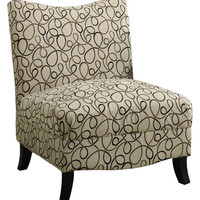 Monarch Specialties Accent Chair with Post Legs - Cream/Tan