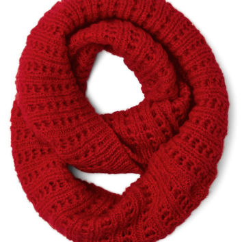 Chill in the Air Circle Scarf in Red | Mod Retro Vintage Scarves | ModCloth.com