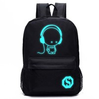 Kid With Earphones Cool Light Backpack