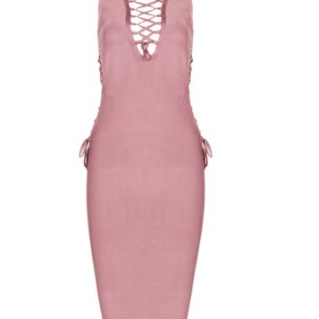 Lenay Coral Midi Dress