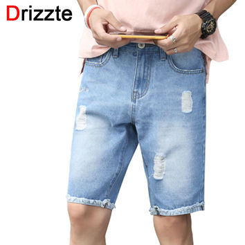 Ripped Men Shorts Blue Black Denim Distress Jeans Short for Men Boys Guys Jean