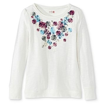 Annie for Target Girls' Jeweled Graphic Shirt