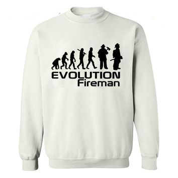 Evolution Fireman Sweat Shirts - Men's Crew Neck Novelty Pullover