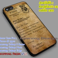 Acceptance Letter | Hogwart | Harry Potter iPhone 6s 6 6s+ 6plus Cases Samsung Galaxy s5 s6 Edge+ NOTE 5 4 3 #movie #HarryPotter dl2