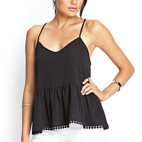 FOREVER 21 Boxy Crossback Cami Black