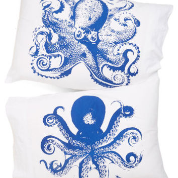 Nautical Maritime and Tide Pillowcase Set by ModCloth