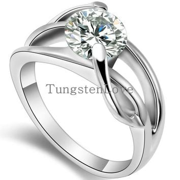 Zirconia Crystal Infinity Promise Engagement Rings for Women