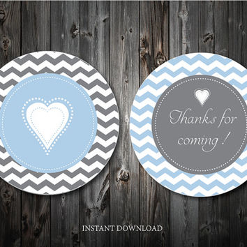 Thank You Tags , baby shower favor, baby Onesuit, Custom gift tags, personalized tags, Thank you labels, Diy, I do Tags,INSTANT DOWNLOAD, PDF