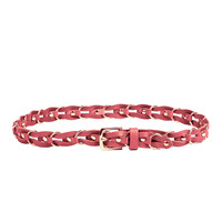 Chain Link Leather Belt