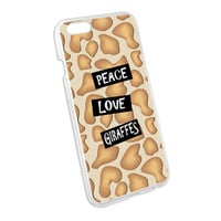 Peace Love Giraffes Snap On Hard Protective Case for Apple iPhone 6
