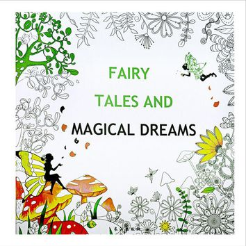 1 PCS 24 Pages Fairy Tale Magical Dreams Coloring Book For Children Adult Relieve Stress Kill Time Painting Drawing Art Book