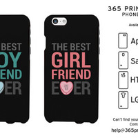Best Boyfriend and Girlfriend Ever Matching Couple Phone Cases - 365 Printing Inc