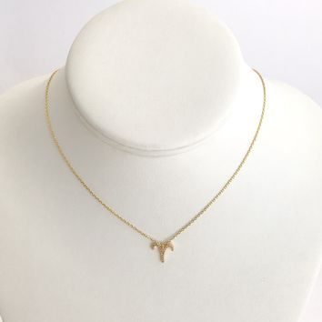 Aries Zodiac Necklace In Gold
