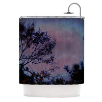 "Robin Dickinson ""Twilight"" Purple Tree Shower Curtain"