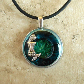 Mermaid Necklace: Blue and Green - Fantasy Jewelry - Mermaid Jewelry - Unique Jewelry - Sea Jewelry - Mythical Creature - Mothers Day
