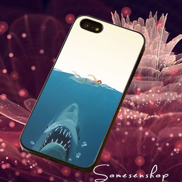 Geometric, Shark ,Jaws ,painting /CellPhone,Cover,Case,iPhone Case,Samsung Galaxy Case,iPad Case,Accessories,Rubber Case/2-4-24
