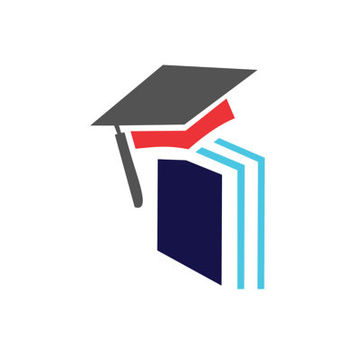 Education Book Concept with Graduation Cap Logo Design Vector for Your Future Business