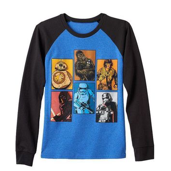ESB7GX Star Wars: Episode VII The Force Awakens Boxed Battalion Tee - Boys 8-20 Size