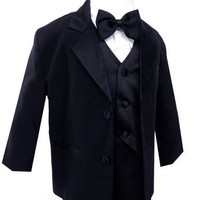 Gino Usher Baby Boy Black Tuxedo Size Small 3-6 Month