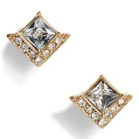 Vince Camuto Crystal Pavé Square Stud Earrings | Nordstrom