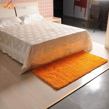 "40x120cm/15""x47"" Chenille Microfiber Bedside Mat Washing Machine Shag Rug For Living Room"