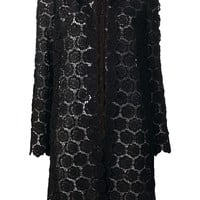 VALENTINO floral lace coat