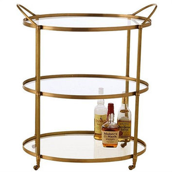 Arteriors Home Connaught Antique Brass Bar Cart - Arteriors Home 3075