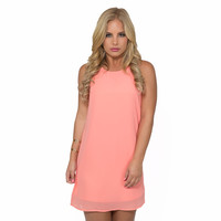Simple Kind Of Love Shift Dress In Coral
