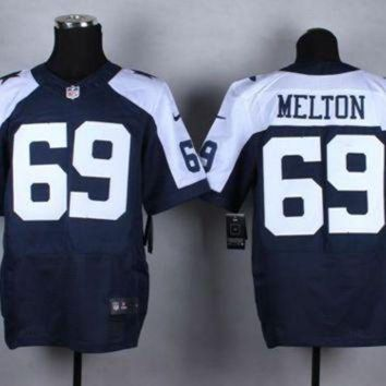 DCCK8X2 Nike Dallas Cowboys #69 Henry Melton Navy Blue Thanksgiving Throwback NFL Elite Jersey