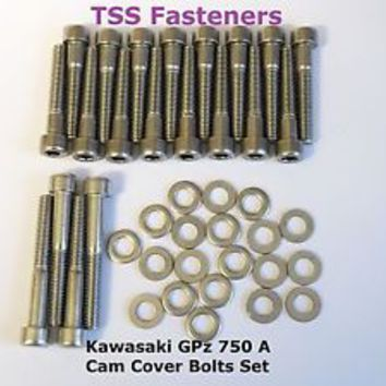 Kawasaki Z550 - Cam Cover Bolts Set - Stainless Steel | eBay