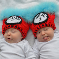 Thing 1 Thing 2 Hats Dr. Seuss Twins