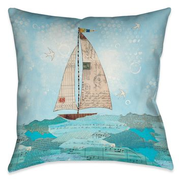 Coastal Notes I Indoor Decorative Pillow