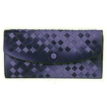 Damara Womens Ombre Woven Flap Clutch Wallet + Mini Purse Set